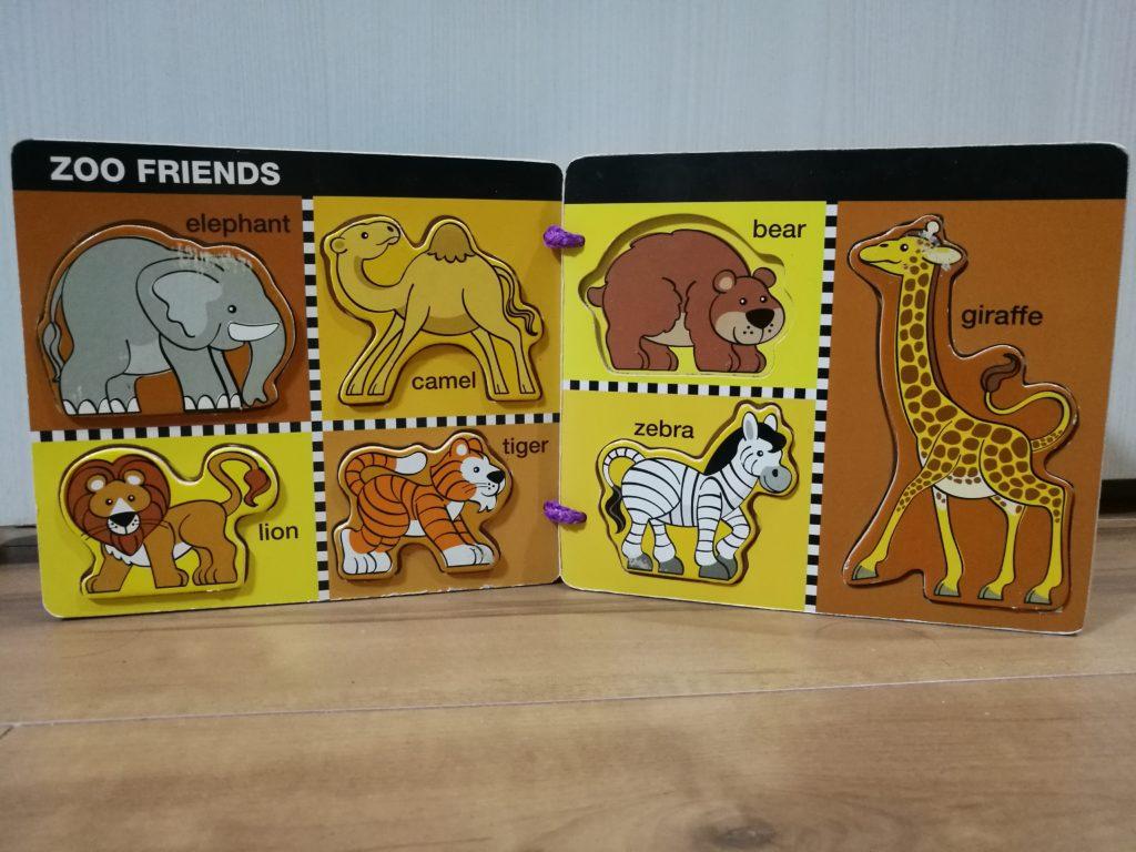 動物園の動物パズル