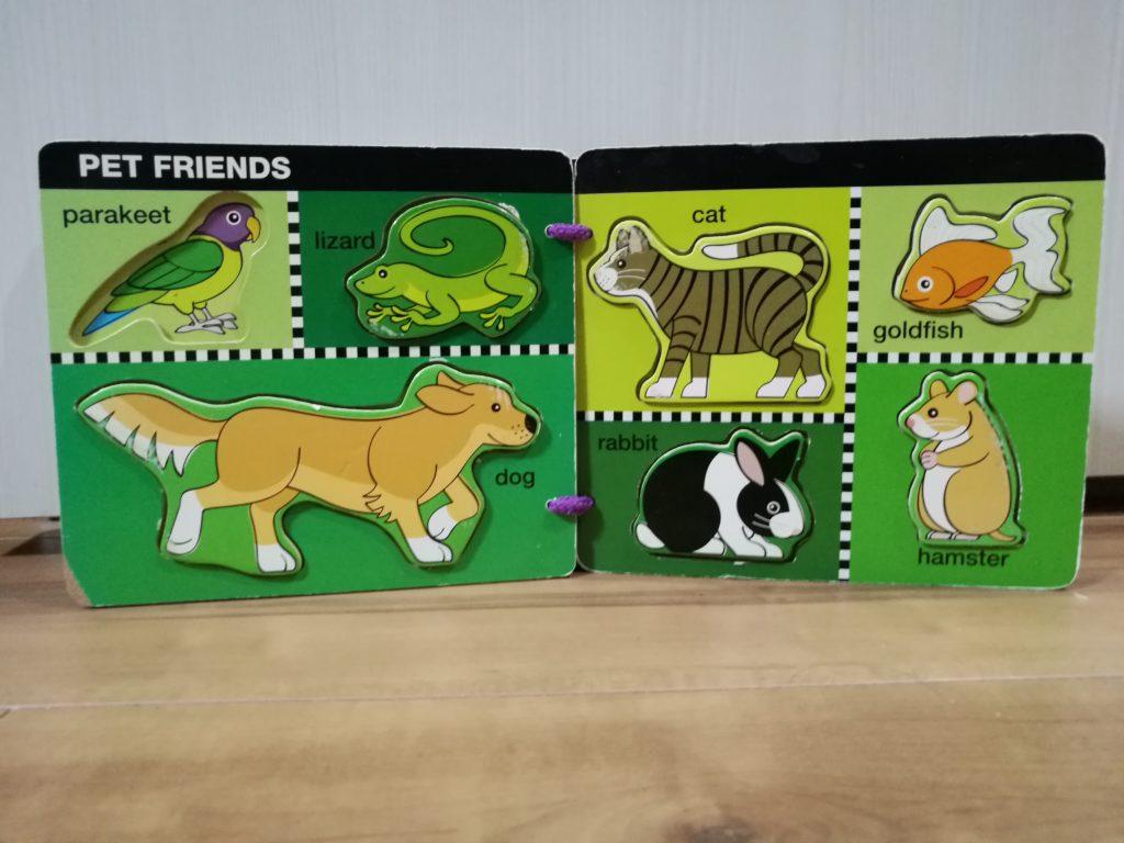 ペットの動物パズル