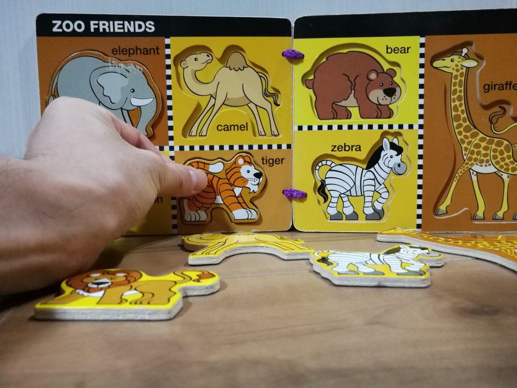 動物パズルの遊び方