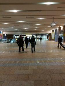 元旦朝のJR札幌駅