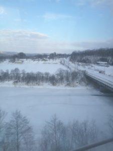 札幌近郊の雪景色