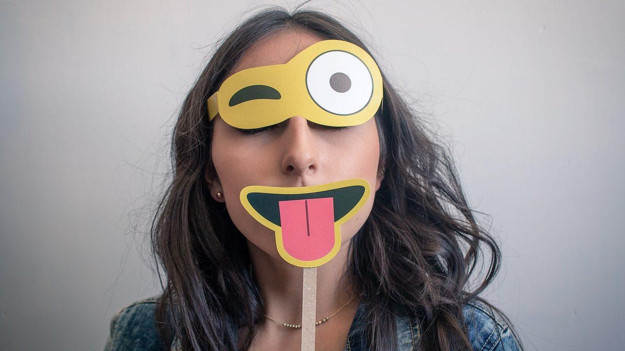 マスクをした顔